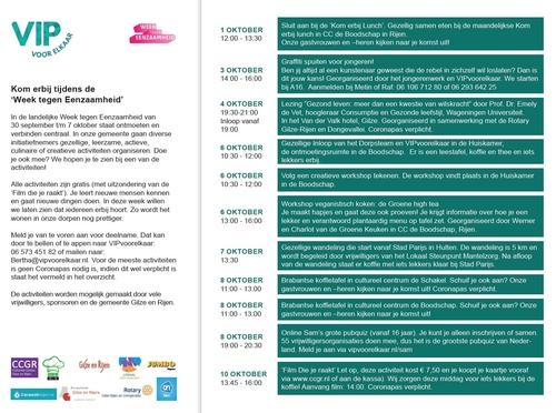 programma Week tegen Eenzaamheid